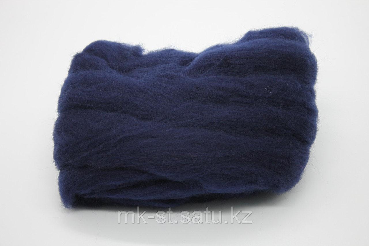 Пряжа для валяния (тёмно - синяя) - фото 2
