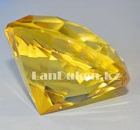 Сувенир из камня, сувенир кристалл желтый 70 гр