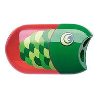 Точилка Рыбка, на 2 отверстия с ластиком.