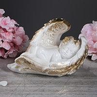 Статуэтка 'Ангел в крыльях' белая, 14 см
