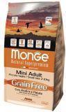 Monge GRAIN FREE 2,5кг Утка с картофелем. Беззерновой корм для взрослых собак мелких пород Mini Adult Anatra, фото 1