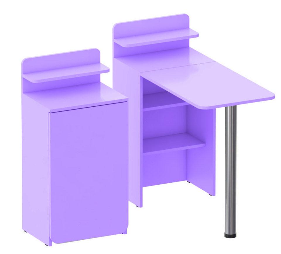 Складной маникюрный столик. Сирень.
