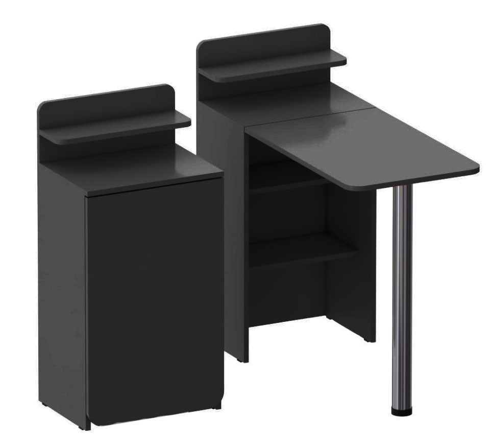 Складной маникюрный столик. Черный.