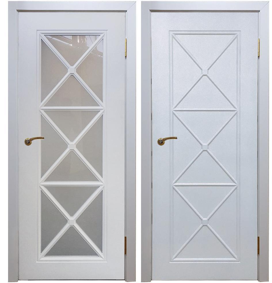 Межкомнатная дверь Аляска белая-эмаль