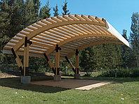 Деревянные конструкции для беседок, пергол, навесов для авто и фахверковых домов, кафэ, ресторанов.