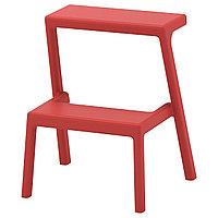 Табурет-лестница МЭСТЕРБИ коричнево-красный ИКЕА, IKEA