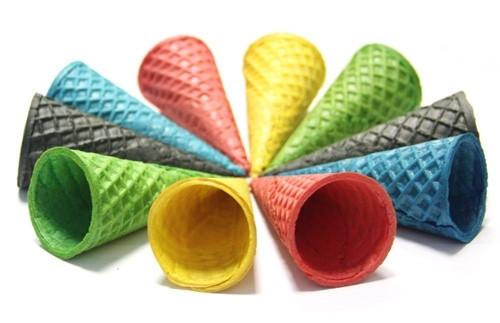 Вафельные Рожки Сахарные 150 мм Цветные АССОРТИ