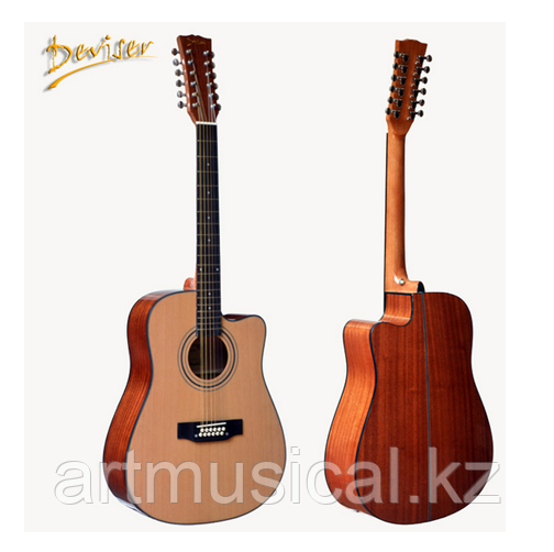 Электро-акустическая 12-ти струнная гитара