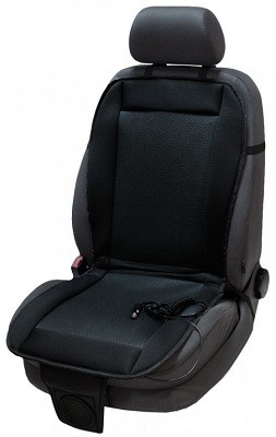 Накидка легко и быстро закрепляется на любом автомобильном сиденье (нажмите на фото для увеличения)