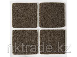 """Накладки STAYER """"COMFORT"""" на мебельные ножки, самоклеящиеся, фетровые, коричневые, квадратные - 25*25 мм, 4 шт"""