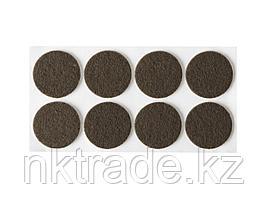 """Накладки STAYER """"COMFORT"""" на мебельные ножки, самоклеящиеся, фетровые, коричневые, круглые - диаметр 25 мм, 8"""