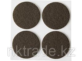 """Накладки STAYER """"COMFORT"""" на мебельные ножки, самоклеящиеся, фетровые, коричневые, круглые - диаметр 35 мм, 4"""