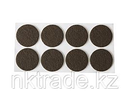 """Накладки STAYER """"COMFORT"""" на мебельные ножки, самоклеящиеся, фетровые, коричневые, круглые - диаметр 28 мм, 8"""