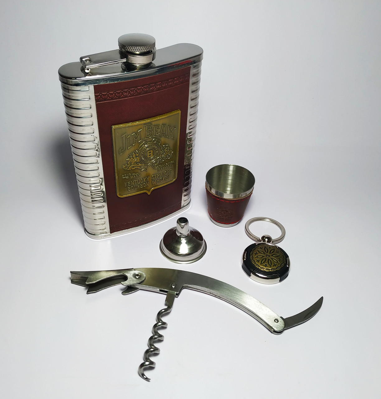 """Подарочный набор 'Jim Beam"""" 5 в 1 с ножом"""