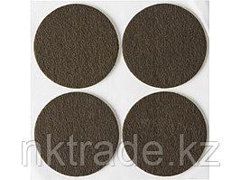 """Накладки STAYER """"COMFORT"""" на мебельные ножки, самоклеящиеся, фетровые, коричневые, круглые - диаметр 50 мм, 4"""