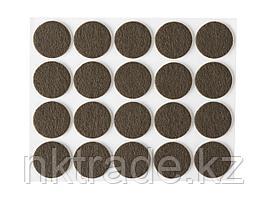 """Накладки STAYER """"COMFORT"""" на мебельные ножки, самоклеящиеся, фетровые, коричневые, круглые - диаметр 22 мм, 20"""