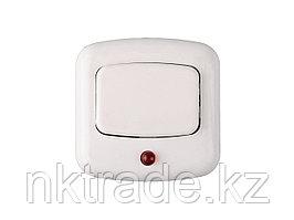 Кнопка СВЕТОЗАР для звонка, с индикацией включения, цвет белый, 220В 58303