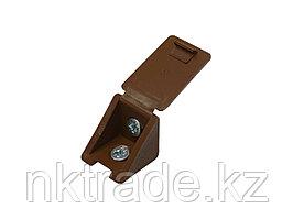 Уголок мебельный с шурупом, цвет дуб, 4,0x15мм, 4шт, ЗУБР 4-308256-1