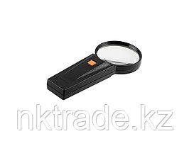 """Лупа STAYER """"STANDARD"""" с подсветкой, 3 кратное увеличение, диаметр линзы - 75мм 40522-75"""