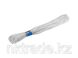 Шнур вязаный полипропиленовый СИБИН с сердечником, белый, длина 20 метров, диаметр 7 мм 50257