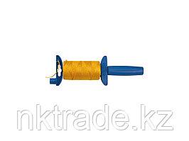 Шнур ЗУБР нейлоновый, для строительных работ, сменная шпуля, на катушке, 100м 06410-100