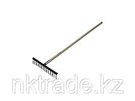 Грабли ЗУБР садовые с черенком, 14 витых зубцов 4-39581-14