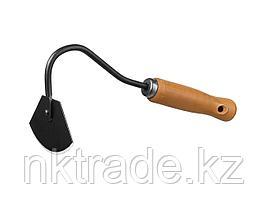 """Мотыжка радиусная """"PROLine"""" с деревянной ручкой, GRINDA 421513, 65х115х275мм"""