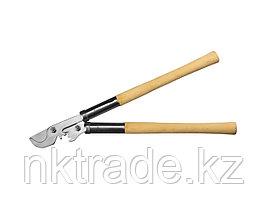 Сучкорез с зубчатым усилителем, с никелированным покрытием, СИБИН 40207, рез до 30мм, 550мм
