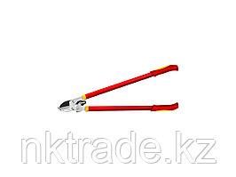 Сучкорез GRINDA с упорной наковальней, храповый механизм, стальные ручки, макс. диам. реза - 40мм, 780мм