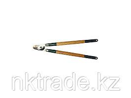 Сучкорез RACO с дубовыми ручками, 2-рычажный, с упорной пластиной, рез до 36мм, 700мм 4213-53/262