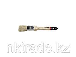 """Кисть плоская STAYER """"UNIVERSAL-EURO"""", светлая натуральная щетина, деревянная ручка, 38мм 0102-038"""