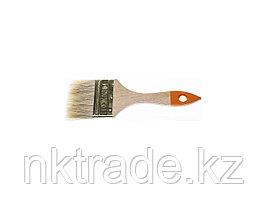 Кисть флейцевая DEXX, деревянная ручка, натуральная щетина, индивидуальная упаковка, 75мм0100-075_z02