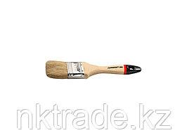 """Кисть плоская STAYER """"UNIVERSAL-EURO"""", светлая натуральная щетина, деревянная ручка, 50мм 0102-050"""