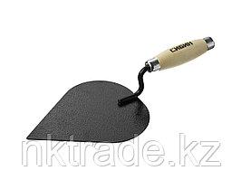 Кельма штукатура СИБИН с деревянной усиленной ручкой, КШ  0820-3_z01