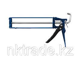 """Пистолет для герметика ЗУБР """"ПРОФЕССИОНАЛ"""" 06631, скелетный, усиленный, шестигранный шток, 310мл"""