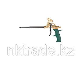 """Пистолет """"GOLD-KRAFT"""" для монтажной пены, KRAFTOOL 06857, полностью латунный корпус"""