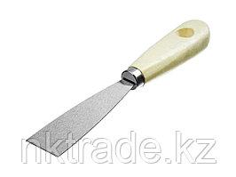 Шпатель MIRAX стальной, c деревянной ручкой, 30мм  1000-030_z01