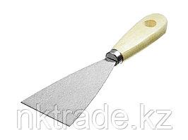 Шпатель MIRAX стальной, c деревянной ручкой, 60мм  1000-060_z01