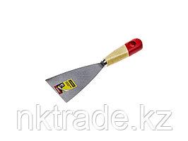 """Шпательная лопатка STAYER """"MASTER"""" c деревянной ручкой, 80 мм 1001-080"""