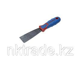 Шпательная лопатка ЗУБР с двухкомпонентной усиленной ручкой, профилированное нержавеющее полотно, 40 мм