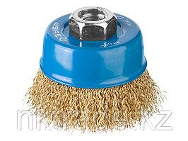 ЗУБР O 60 мм, проволока 0,3 мм, щетка чашечная для УШМ 3526-060_z02 Профессионал