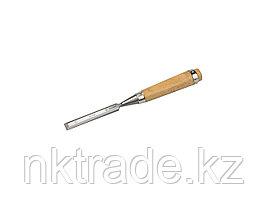 """Стамеска-долото ЗУБР """"ЭКСПЕРТ"""" с деревянной ручкой, хромованадиевая, 16мм 18096-16"""
