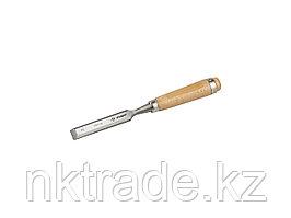 """Стамеска-долото ЗУБР """"ЭКСПЕРТ"""" с деревянной ручкой, хромованадиевая, 22мм 18096-22"""