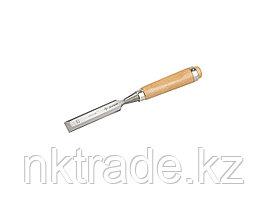 """Стамеска-долото ЗУБР """"ЭКСПЕРТ"""" с деревянной ручкой, хромованадиевая, 25мм 18096-25"""