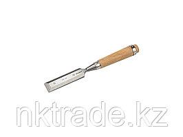 """Стамеска-долото ЗУБР """"ЭКСПЕРТ"""" с деревянной ручкой, хромованадиевая, 32мм 18096-32"""