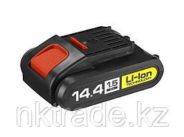 "Батарея аккумуляторная Li-Ion, ЗУБР АКБ-14.4-Ли 15М1, для шуруповертов 14.4В серии М1, 1.5Ач, 14.4В, тип ""М1"""