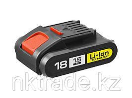 "Батарея аккумуляторная Li-Ion, ЗУБР АКБ-18-Ли 15М1, для шуруповертов 18В серии М1, 1.5Ач, 18В, тип ""М1"""