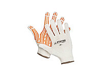 """Перчатки STAYER """"EXPERT"""" трикотажные с защитой от скольжения, 10 класс, х/б, S-M 11401-S"""
