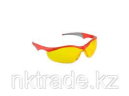 """Очки ЗУБР """"МАСТЕР"""" защитные, желтые, поликарбонатная монолинза с мягкими двухкомпонентными дужками 110321"""