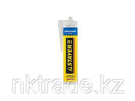 """Герметик STAYER """"MASTER"""" санитарный силиконовый, для помещений с повышенной влажностью, белый, 260мл  41215-0_z01"""